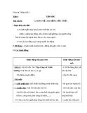 Bài Tập đọc: Ca dao về lao động sản xuất - Giáo án Tiếng việt 5 - GV.Mai Huỳnh