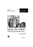 Tactics for TOEIC - Listening and Reading test 1