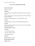 Giáo án Địa lý 10 bài 16: Sóng. Thủy triều. Dòng biển