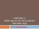 Bài giảng Nghiệp vụ ngân hàng thương mại: Chương 1 - GV.Lê Thị Khánh Phương