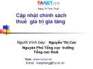 Bài giảng Chính sách thuế giá trị gia tăng - Nguyễn Thị Cúc