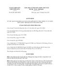 Quyết định 06/2013/QĐ-UBND tỉnh Vĩnh Long
