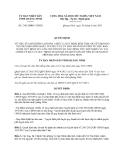Quyết định 2183/QĐDC-UBND