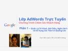 Cách thức triển khai Google Adword