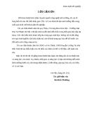 Khóa luận tốt nghiệp: Đánh giá hiện trạng chất thải rắn sinh hoạt  Xã An Thịnh - Huyện Lương Tài - Tỉnh Bắc Ninh và đề xuất các giải pháp quản lý loại chất thải này