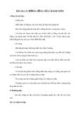 Giáo án GDCD 9 bài 10: Lí tưởng sống của thanh niên
