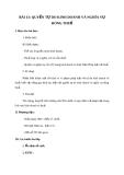 Giáo án GDCD 9 bài 13: Quyền tự do kinh doanh và nghĩa vụ đóng thuế