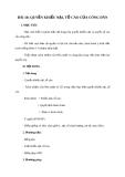 Giáo án GDCD 8 bài 18: Quyền khiếu nạn tố cáo của công dân