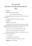 Giáo án GDCD 8 bài 21: Pháp luật nước Cộng hòa xã hội chủ nghĩa Việt Nam