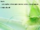 Bài giảng GDCD 8 bài 6: Xây dựng tình bạn trong sáng lành mạnh