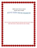 SKKN: Áp dụng một số phương pháp dạy kĩ năng viết trong phân môn tiếng anh khối 8