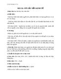 Giáo án Địa lý 10 bài 26: Cơ cấu nền kinh tế