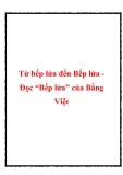 """Bài văn mẫu lớp 10: Cảm nghĩ về bài  """"Bếp lửa"""" của Bằng Việt"""
