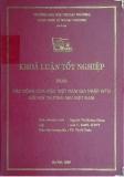 Khóa luận tốt nghiệp: Tác động của việc Việt Nam gia nhập WTO đối với thương mại Việt Nam