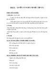 Giáo án GDCD 6 bài 15: Quyền và nghĩa vụ học tập