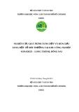 Đề tài: Nghiên cứu quá trình xung đột và hòa giải xung đột về môi trường tại khu công nghiệp Sonadezi – Long Thành, Đồng Nai