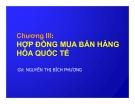 Bài giảng Nghiệp vụ ngoại thương: Chương 3 - GV. Nguyễn Thị Bích Phượng