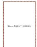 Thông tư số 14/2013/TT-BTTTT 2013