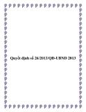 Văn bản quyết định số 26/2013/QĐ-UBND - tỉnh Kon Tum
