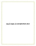 Quyết định số 610/QĐ-BXD 2013