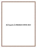 Kế hoạch số 2584/KH-UBND 2013