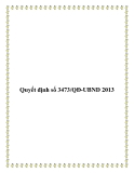 Quyết định số 3473/QĐ-UBND 2013