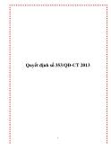 Quyết định số 353/QĐ-CT 2013