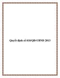 Quyết định số 818/QĐ-UBND 2013 - tỉnh Cà Mau