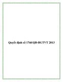 Quyết định số 1760/QĐ-BGTVT 2013