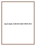 Quyết định số 08/2013/QĐ-UBND 2013 - tỉnh Phú Thọ