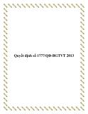 Quyết định số 1777/QĐ-BGTVT 2013
