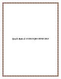 Quyết định số 13/2013/QĐ-UBND 2013 - tỉnh Quảng Trị
