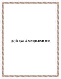 Quyết định số 567/QĐ-BXD 2013