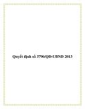 Quyết định số 3796/QĐ-UBND 2013