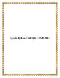 Quyết định số 1568/QĐ-UBND 2013
