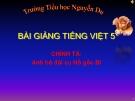 Slide bài Chính tả: Nghe, viết: Anh bộ đội Cụ Hồ gốc Bỉ - Tiếng việt 5 - GV.Mai Huỳnh