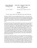 Chỉ thị 12/CT-UBND năm 2013