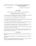 Quyết định 2508/QĐ-BGDĐT năm 2013