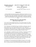 Nghị quyết 07/NQ-HĐND năm 2013 phê duyệt Đề án 04/ĐA-UBND