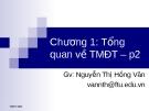Bài giảng Thương mại điện tử: Chương 1 - GV.Nguyễn Thị Hồng Vân