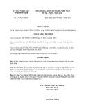 Quyết định số 1797/QĐ-UBND năm 2013