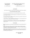 Quyết định 11/2013/QĐ-UBND tỉnh Cao Bằng