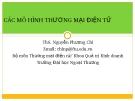 Bài giảng Các mô hình thương mại điện tử - Ths. Nguyễn Phương Chi