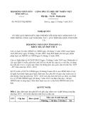 Nghị quyết 49/2013/NQ-HĐND