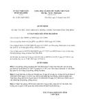 Quyết định 13/2013/QĐ-UBND tỉnh Thái Bình