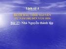 Bài giảng Lịch sử 4 bài 27: Nhà Nguyễn thành lập