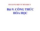 Slide bài Công thức hóa học - Hóa 8 - GV.Phan V.An
