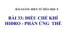 Slide bài Điều chế khí Hiđro - Phản ứng thế - Hóa 8 - GV.Phan V.An