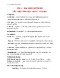 Giáo án bài 14: Bài thực hành 3 Dấu hiệu hiện tượng hóa học - Hóa 8 - GV.Phan V.An