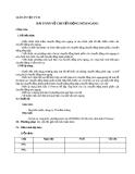 Giáo án bài 15: Bài toán về chuyển động ném ngang - Vật lý 10 - GV.T.Đ.Lý